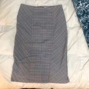 Cute Plaid Pencil Skirt NEW